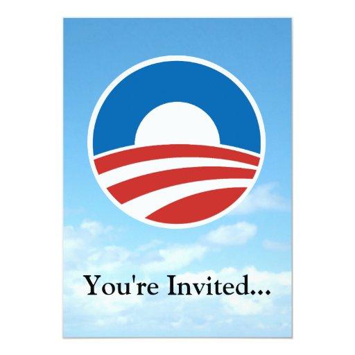 Obama-O Logo with Blue Custom Invitation