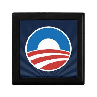 Obama-O Logo with Blue Trinket Box