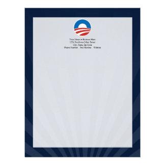 Obama-O Logo with Blue Letterhead
