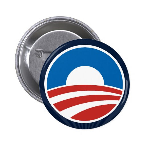 Obama O Logo With Blue Pinback Buttons From Zazzle