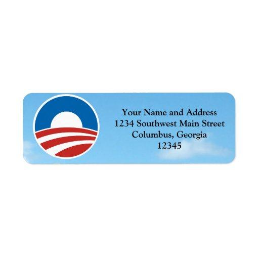 Obama-O Logo with Blue Return Address Label