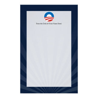 Obama-O Logo with Blue Stationery