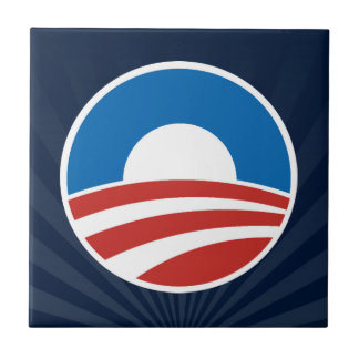 Obama-O Logo with Blue Tiles