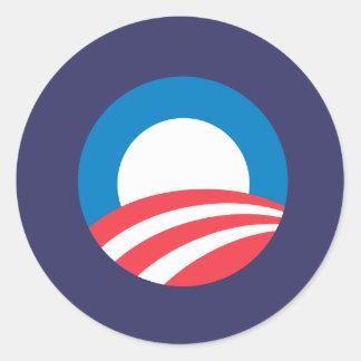 Obama O Round Stickers