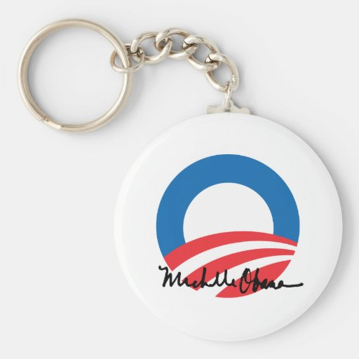 OBAMA O WITH MICHELLE OBAMA AUTOGRAPH -.png Key Chain