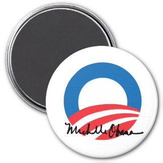 OBAMA O WITH MICHELLE OBAMA AUTOGRAPH -.png Magnet