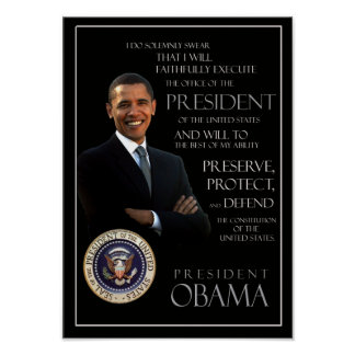 Obama Oath of Office Poster