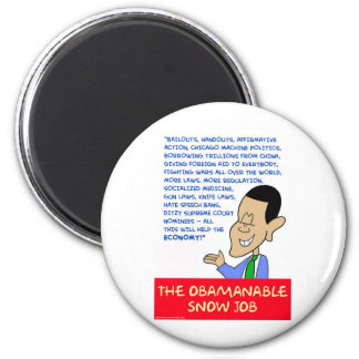 obama obamanable snow job magnet