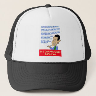 obama obamanable snow job trucker hat