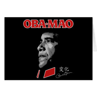 Obama Obamao OBA-MAO Mao Card