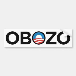 OBAMA OBOZO VIRUS EXECUTIVE ORDER BLACK CAR BUMPER STICKER