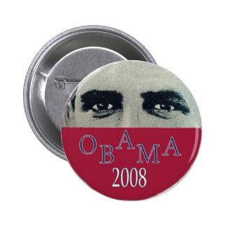 Obama observa el botón pin redondo de 2 pulgadas