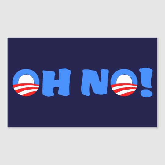 Obama Oh No! Rectangular Sticker