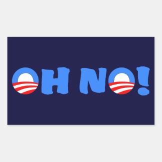Obama Oh No! Rectangle Sticker