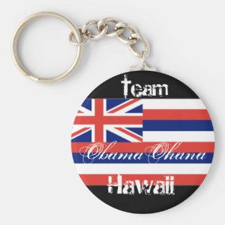 Obama Ohana, equipo Hawaii Llavero Redondo Tipo Pin