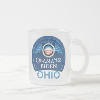 Obama OHIO 2012 Frosted Glass Coffee Mug