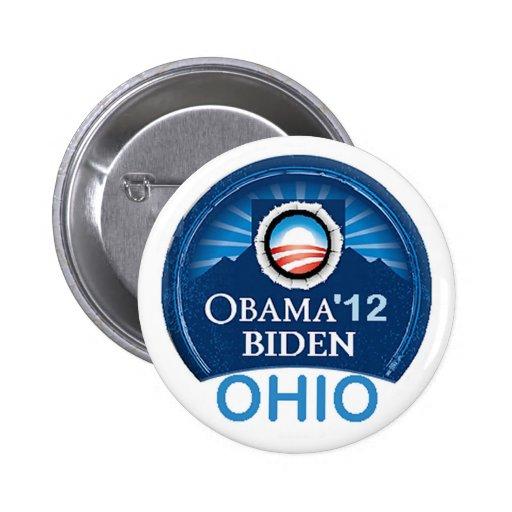 Obama OHIO 2012 Pinback Button