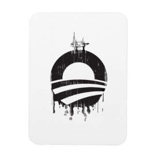 Obama Oil Rig Faded png Rectangle Magnet