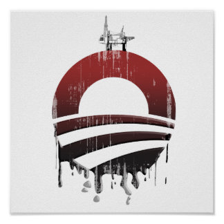 Obama Oil Spill 3 Faded.png Print