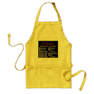 Obama oil spill progress report adult apron