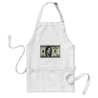 Obama on $100 bill adult apron