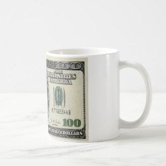 Obama on $100 bill coffee mug