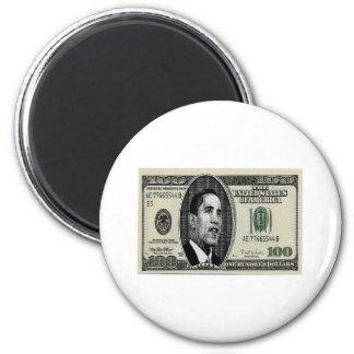 Obama on $100 bill magnet