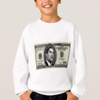 Obama on $100 bill sweatshirt