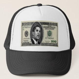 Obama on $100 bill trucker hat