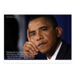 """Obama """"On Changing"""" Wisdom Quote Gifts & Tees Post Card"""