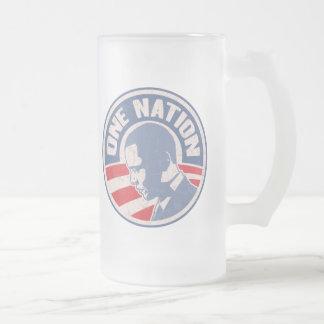 obama-one-nation-T Frosted Glass Beer Mug