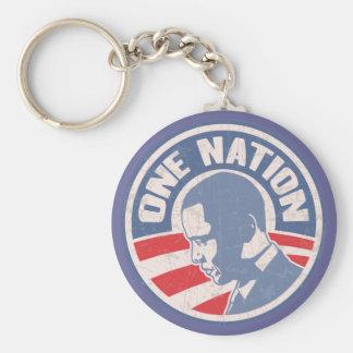 obama-one-nation-T Keychain