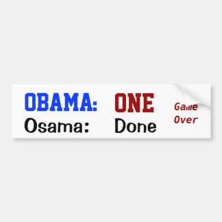 Obama: One, Osama: Done, Game Over Bumper Sticker