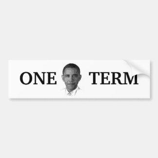 Obama One Term Bumper Sticker