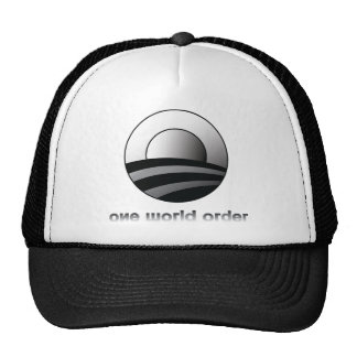 Obama One World Order Mesh Hat