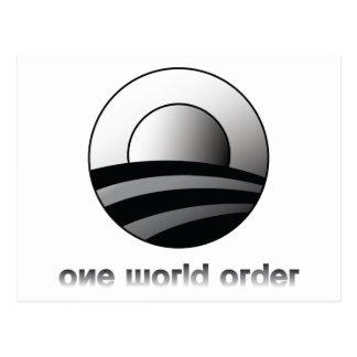 Obama One World Order Postcard