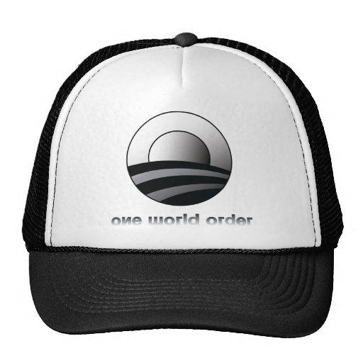 Obama One World Order Trucker Hat