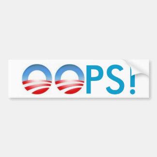 ¡Obama OOPS Etiqueta De Parachoque