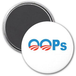 Obama oops imán redondo 7 cm