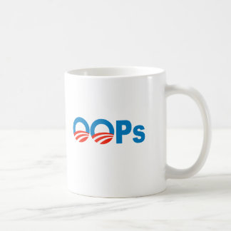 Obama oops classic white coffee mug
