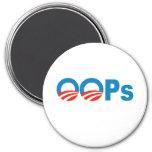 Obama oops refrigerator magnets