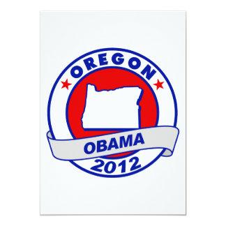Obama - oregon 5x7 paper invitation card