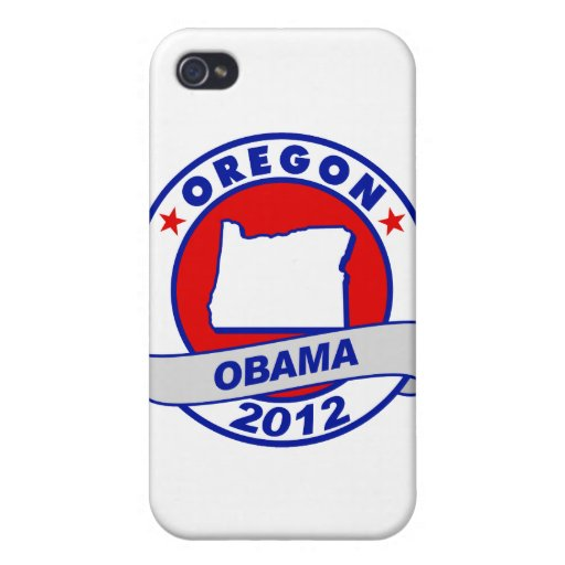 Obama - Oregon iPhone 4 Cárcasas