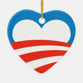 Obama Ornament Heart
