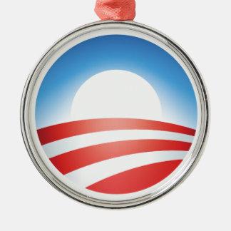 Obama ornament! round metal christmas ornament