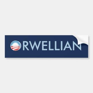 Obama Orwellian Pegatina Para Auto