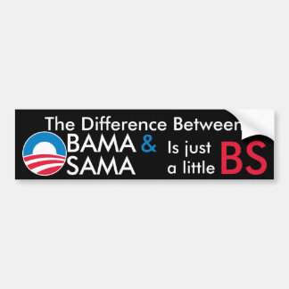 Obama/Osama BS Bumper Sticker