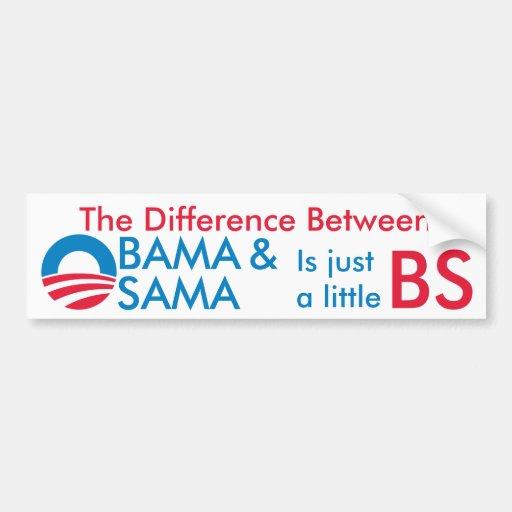 Obama/Osama BS Car Bumper Sticker