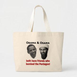 Obama & Osama Large Tote Bag