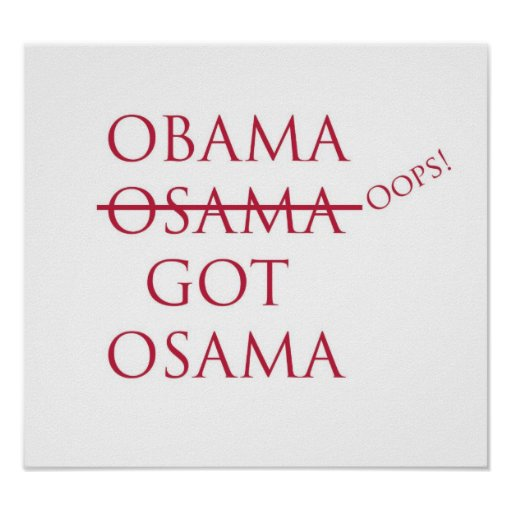 Obama/Osama Poster